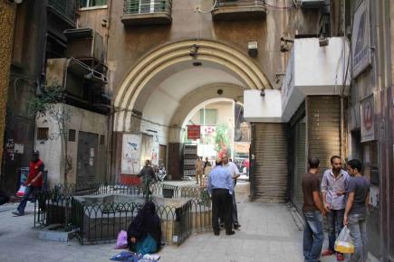 "<a class=""fancybox"" rel=""gallery-"" href=""http://passageways.clustermappinginitiative.org/sites/default/files/styles/largest/public/c2_001.jpg?itok=RhUDlpr6"" title=""Entrance of passage overlooking Kasr El Nil Street"">Enlarge</a><br >2012, Nov 06, 02:11pm<br>Entrance of passage overlooking Kasr El Nil Street"