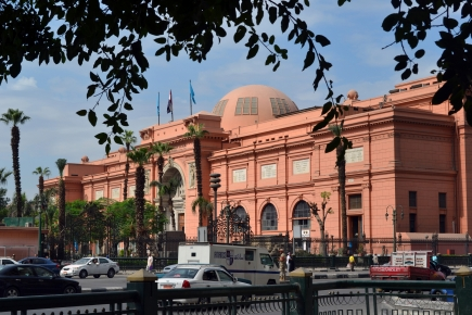 """<a class=""""fancybox"""" rel=""""gallery-images"""" href=""""http://passageways.clustermappinginitiative.org/sites/default/files/styles/largest/public/tahrir_2.jpg?itok=r9t4fmL9"""" title=""""The Egyptian Museum in al-Tahrir Superblock."""">Enlarge</a><br >2015, Oct 27, 03:10pm<br>The Egyptian Museum in al-Tahrir Superblock."""